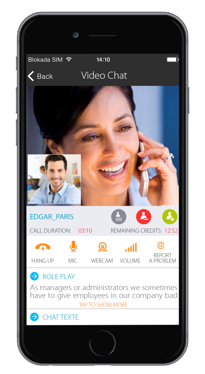 Video-chat-iphone-noir-de-face